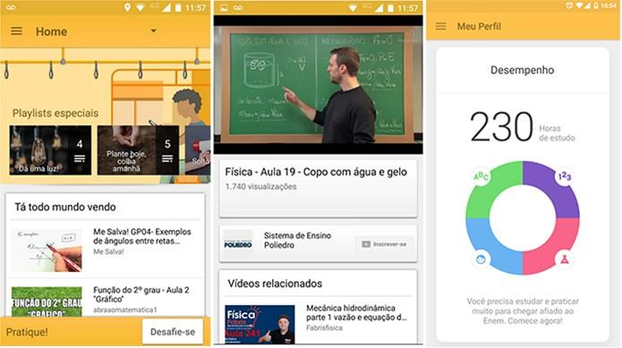 EDU.app é um aplicativo criado em parceria com o YouTube para oferecer videoaulas (Foto: Divulgação/Play Store)
