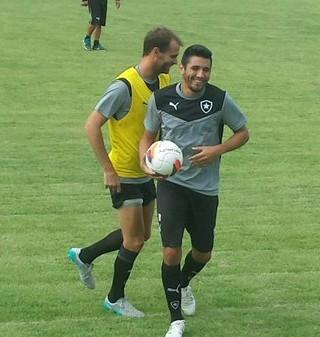Gervasio Nuñez - treino do Botafogo (Foto: Thiago de Lima)