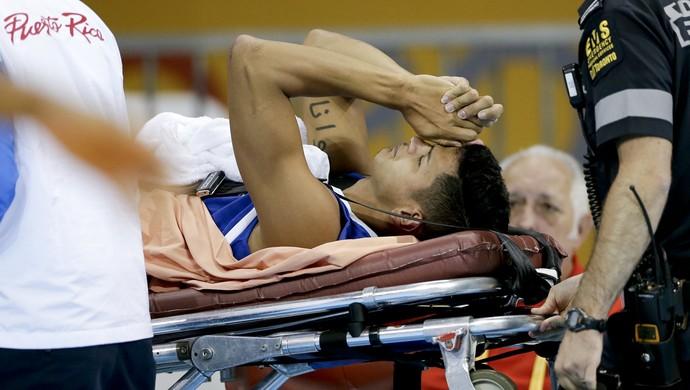 Pan de Toronto Steven Morales de Porto Rico Cuba lesão (Foto: Gregory Bull / AP)