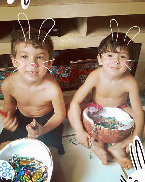 Gabriel e Pietro, filhos de Priscila Pires (Foto: Reprodução/Instagram)
