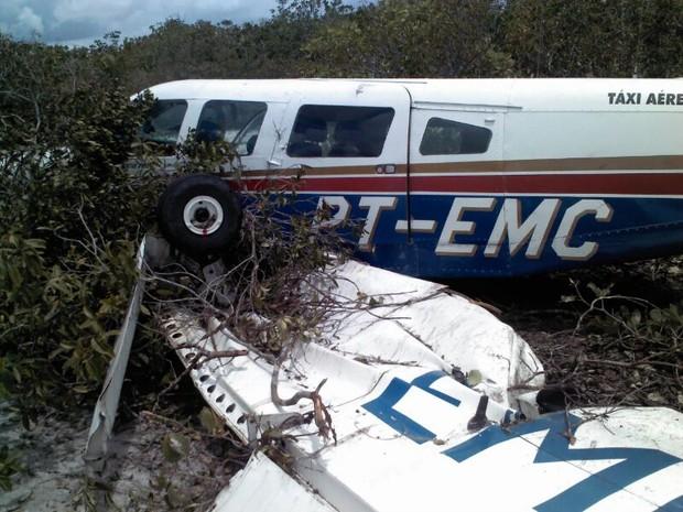 Avião caiu no município de Humberto de Campos (Foto: Divulgação/Ascom)