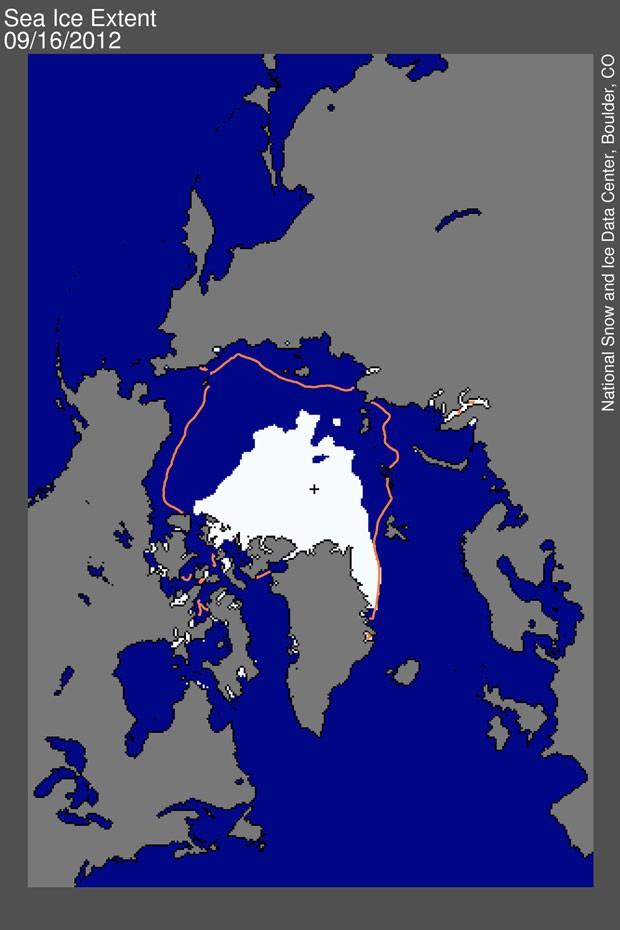 Ártico (Foto: Divulgação/NSIDC)