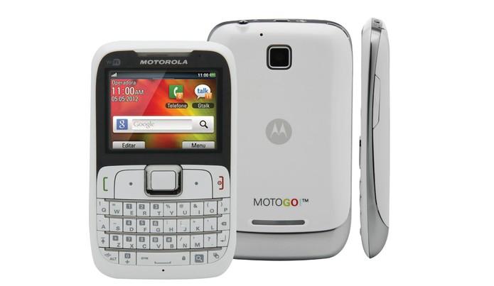 Celular Motorola MotoGo tem função de rádio FM, MP3 Player e acesso à internet 3G (Foto: Divulgação/Motorola)