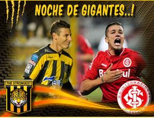 """Twitter do The Strongest projeta """"noite de gigantes"""" contra Inter (Foto: Reprodução)"""