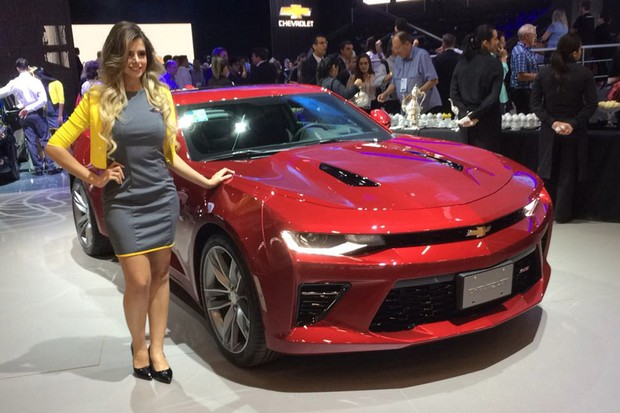 Novo Chevrolet Camaro no Salão do Automóvel 2016 (Foto: Leandro Alvares/Autoesporte)