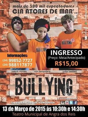 Espetáculo Bullying é da  Cia Atores de Mar' (Foto: Divulgação/Facebook  Cia Atores de Mar')