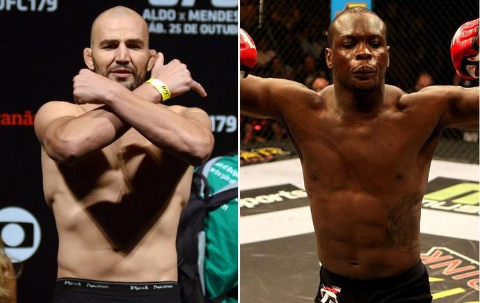 Glover Teixeira Ovince St. Preux UFC (Foto: Montagem sobre fotos de André Durão e Getty Images)