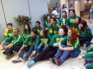 Grupo de brasileiros que escolheram cursar a universidade na Rússia (Foto: Marcos Vinícius de Freitas/ Arquivo Pessoal)