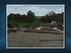 Casas desabam e carros são 'engolidos' por cratera em São Tiago