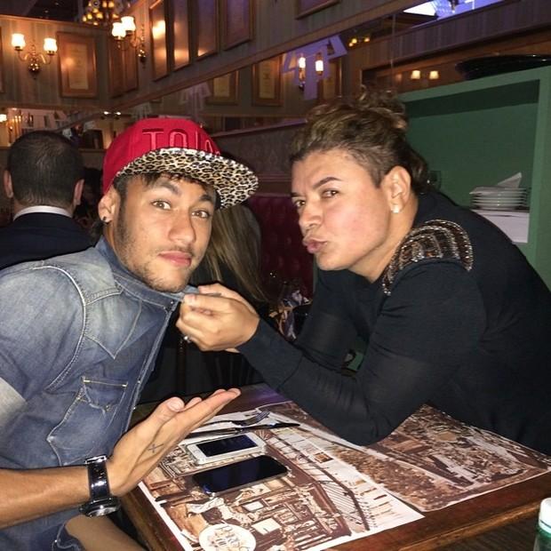 Neymar e David Brazil (Foto: Reprodução/Instagram)
