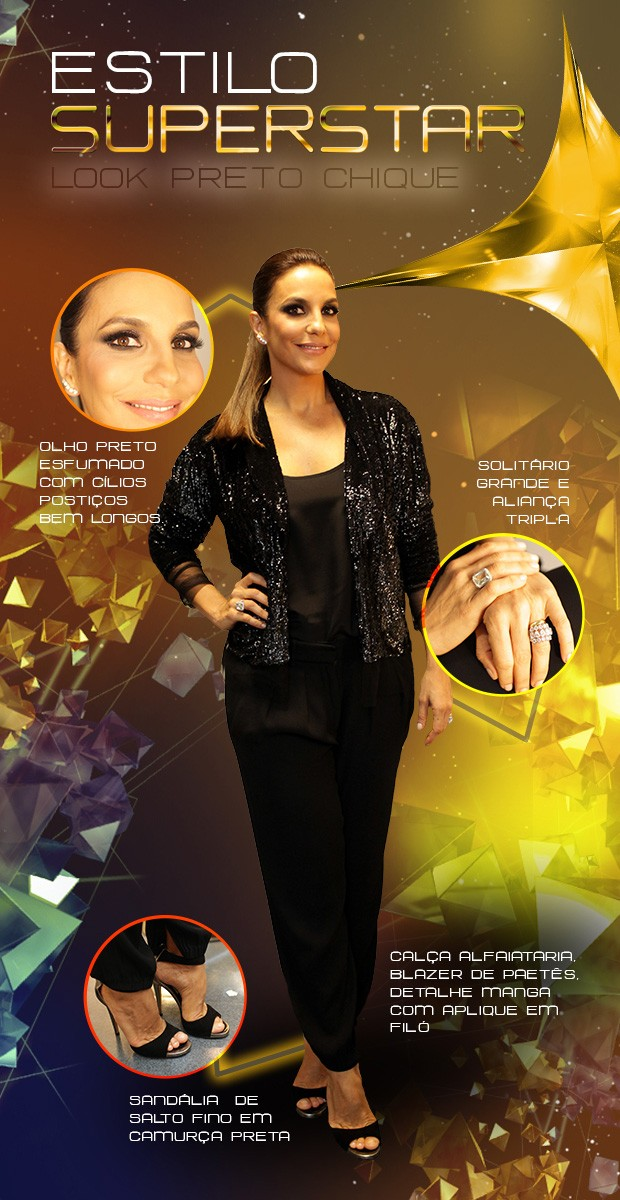 Look Ivete Sangalo (Foto: TV Globo/SuperStar)