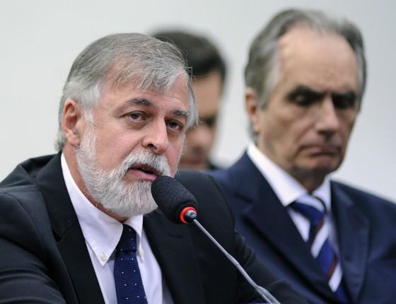 Paulo Roberto Costa, ex-diretor de Abastecimento da Petrobras em depoimento na CPI da Petrobras (Foto: Lúcio Bernardo Jr/Câmara dos Deputados)