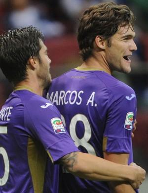 Marcos Alonso fiorentina gol Real Madrid (Foto: Agência AP)