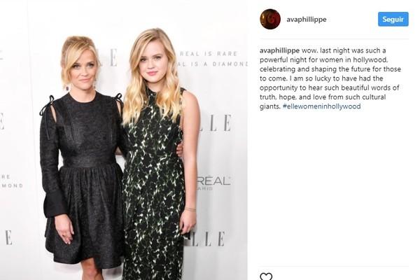 Ava homenageia a mãe após discurso sobre os assédios em Hollywood (Foto: Reprodução/Instagram)