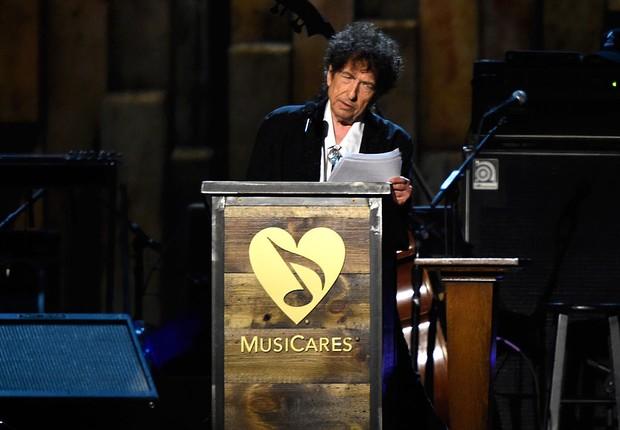 Bob Dylan recebeu o prêmio Nobel de Literatura (Foto: Frazer Harrison / Getty Images)
