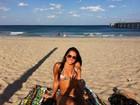 Vidão: Filha de Renato Gaúcho curte dia de praia na Flórida