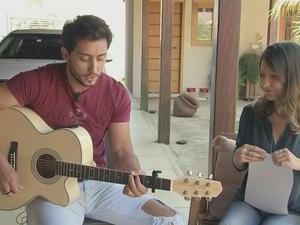 Danillo Vieira fez música para divulgar doença (Foto: Reprodução/TV TEM)