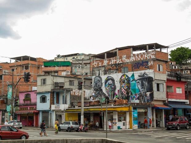 Artesanato Nordeste Brasileiro ~ G1 Artista retrata'Racionais' para os 460 anos de SP em mural na Zona Sul notícias em S u00e3o Paulo