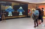 Fátima, Fernando Caruso e Suzy Rêgo fazem a 'dancinha dos Smurfs'