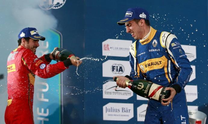 Fórmula E e-Prix de Pequim Lucas di Grassi e Sebastian Buemi (Foto: Kim Kyung-Hoon)