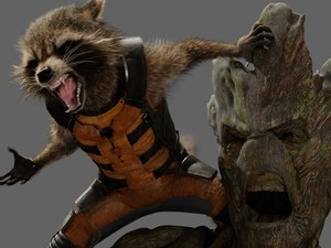 Groot e Rocket, personagens de 'Guardiões da Galáxia' (Foto: Divulgação)