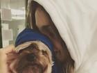 Xuxa mostra foto de Sasha com cachorrinho Dudu: 'Meus amores'