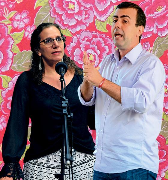 Climinha entre Jandira Feghali, do PCdoB, e Marcelo Freixo, do PSOL, por causa da chita (Foto: reprodução)