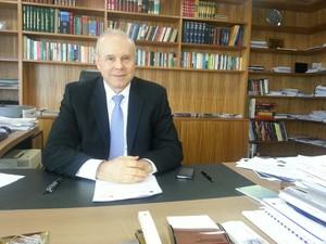 Guido Mantega falou ao G1 no Ministério da Fazenda (Foto: Alexandro Martello/G1)