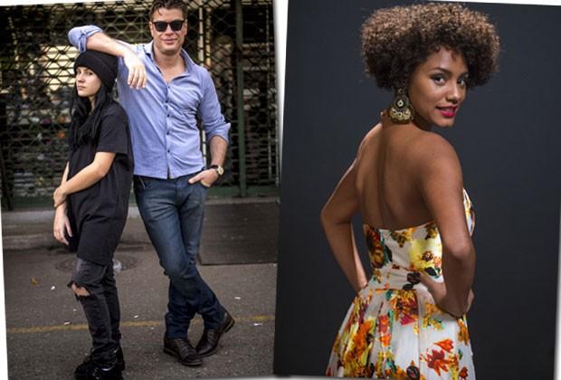 Giovanna Rispoli faz a filha do personagem de Fábio Assunção e Jéssica Ellen é uma ex-modelo e booker (Foto: Divulgação/TVGlobo)
