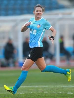 Capixaba Gabi Zanotti, do Tianjin Quanjian, da China (Foto: Site Oficial do Tianjin Quanjian)