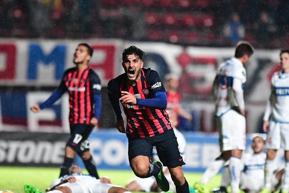 Blandi vive boa fase agora: responsável por boa parte dos gols da equipe  (Foto: Divulgação/San Lorenzo)