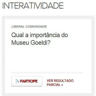 Enquete LibCOM: museu emilio goeldi  (Foto: Reprodução/G1Pará)