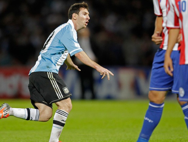 Messi, Argentina x Paraguai (Foto: Ag&#234;ncia Reuters)