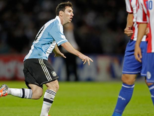 Messi, Argentina x Paraguai (Foto: Agência Reuters)