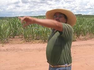 Morador da fazenda escutou barulho da queda (Foto: Reprodução/TV TEM)