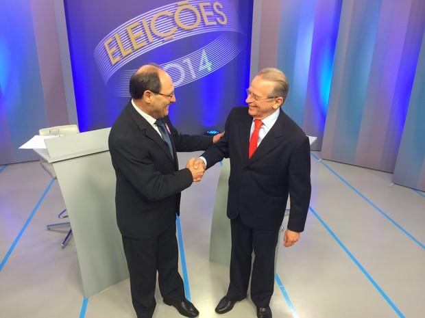 José Ivo Sartori e Tarso Genro (Foto: Estêvão Pires/G1)