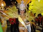 Império mistura samba e futebol no Porto Seco (Jessica Mello/G1)