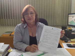 Maria Giutsi, superintendente do Incra no Amapá (Foto: Dyepeson Martins/G1)