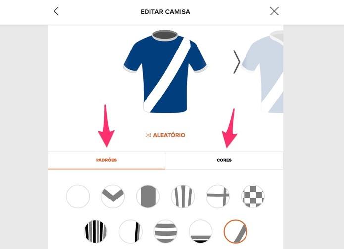 Edite o uniforme do seu time (Foto  Reprodução Lucas Mendes) 62bf2c7695455