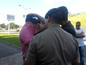 Suspeito morte Vandir Domingos (Foto: Nathalie Guimarães/G1)