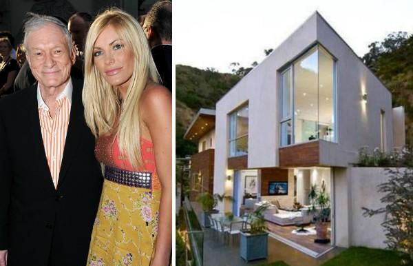 A mansão deixada pelo empresário Hugh Hefner para a sua viúva, a modelo Crystal Harris (Foto: Getty Images/Divulgação)