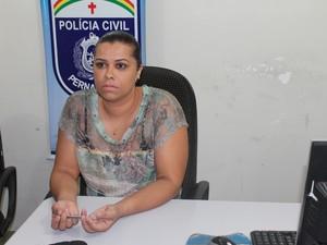 Delegada Sara Machado responsável pelo caso concedeu coletiva sobre o caso (Foto: Taisa Alencar / G1)