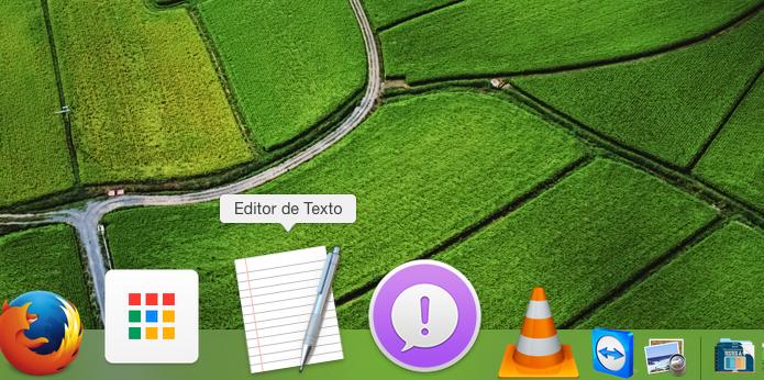 Executando o editor de texto do OS X (Foto: Reprodução/Edivaldo Brito)
