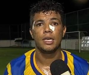 Atacante Jean; Canindé (Foto: Reprodução / TV Sergipe)