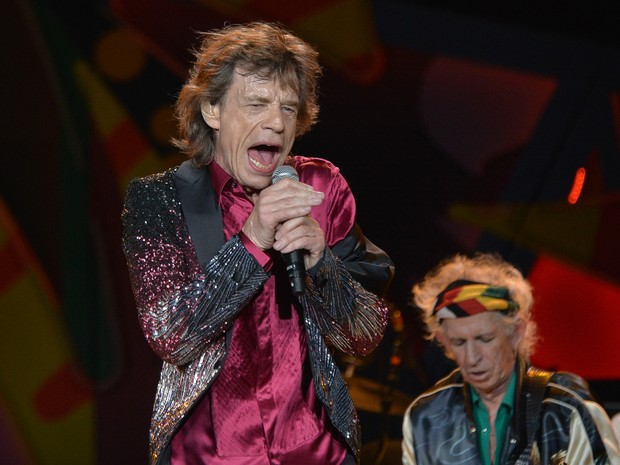Mick Jagger em show do grupo Rolling Stones em Havana, em Cuba (Foto: Yamil Lage/ AFP)