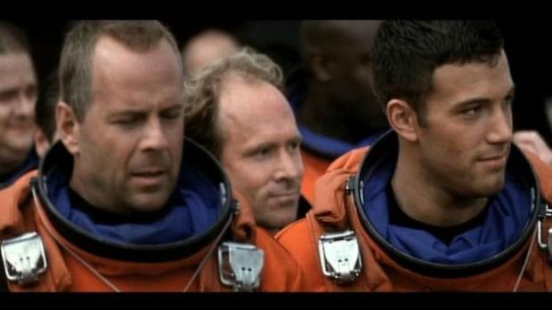 Bruce Willis e Ben Affleck em cena de 'Armagedon' (Foto: Divulgação)