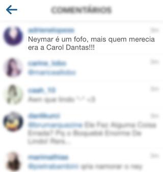Comentário de fã na foto de Bruna Marquezine (Foto: Instagram / Reprodução)