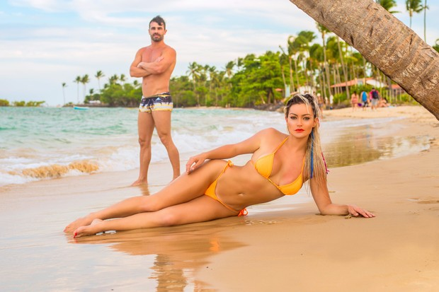 Laura keller com o marido (Foto: Paulo Fontes)
