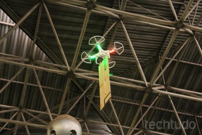 Nem mesmo os céus estarão a salvo da comunicação nessa Campus Party (Foto: Renato Bazan/TechTudo)
