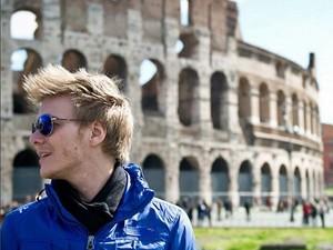 Michel em Roma, na Itália (Foto: Arquivo Pessoal)